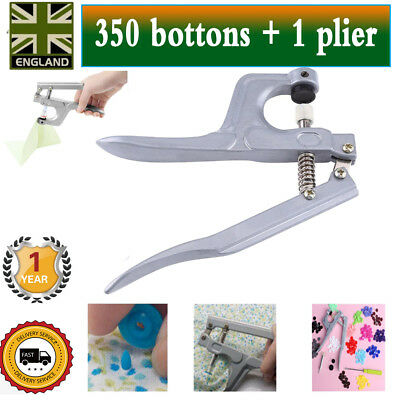 350pcs Snap Pliers for Resin Snaps  Starter Plastic Poppers Button Fasteners UK