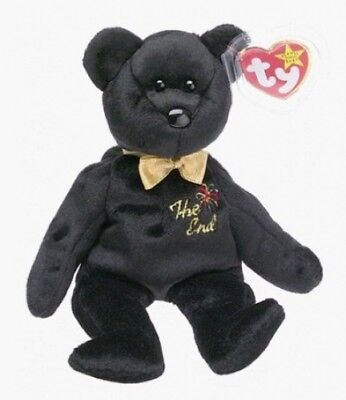 Ty Beanie Babies - The End Black Teddy Bear. Shipping Included