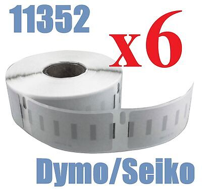 6 x Rolls Labels for Dymo Seiko 11352  25mm x 54mm LabelWriter 450/450 Turbo