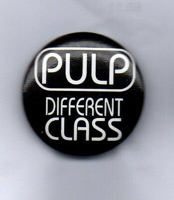 PULP Different Class BUTTON BADGE - ENGLISH INDIE ROCK BAND  Disco 2000 25MM PIN