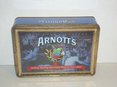 T1382  Empty Arnott's 2006 Collectors Edition Biscuit Tin 500 G