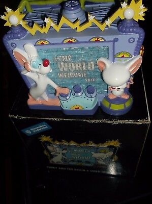 Warner Bros Animaniacs Pinky and The Brain  Desk Sign 2000 New