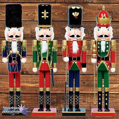 60cm Tall Wooden Traditional Nutcracker Christmas Xmas Standing Large Decoration