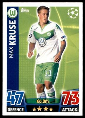 Match Attax Champions League 15/16 Max Kruse VfL Wolfsburg No. 124
