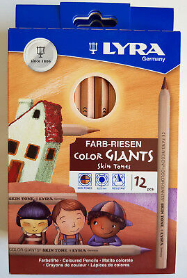 Lyra skin tones 12 Farb Riesen Buntstifte color giants extra dicke Mine