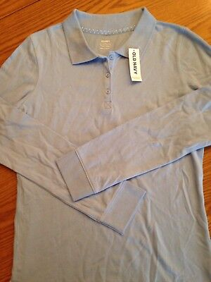 NWT Old Navy Girls Lt Blue Polo Size XL(14) **Free Shipping**