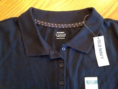 NWT Old Navy Girl's Navy Blue Polo Size XL(14) **Free Shipping**