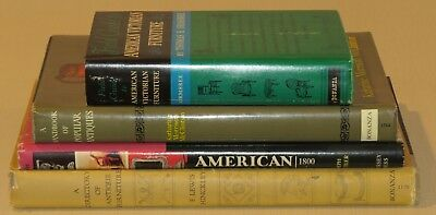 Lot of 4 Vintage Books on Antiques, Furniture - Instant Library Bookshelf Decor