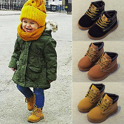 Winter Child Kids Baby Boys Girls Casual Boots Toddler Flat Shoes Sneakers