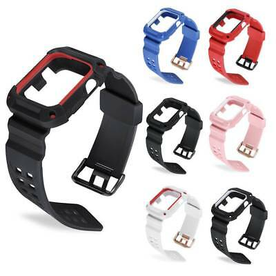 Sports Silicone Watch Band Strap With Case Cover for Apple iWatch Series 1/2 UK