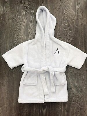 Baby & Child Restoration Hardware Plush Bath Robe Monogrammed 'A'