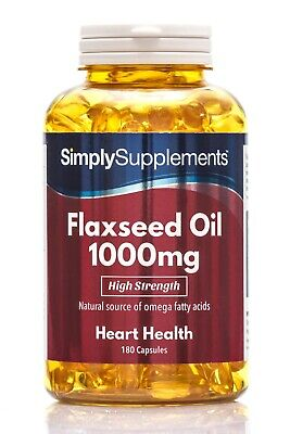 Flaxseed Oil 1000mg Capsules   Source of Omega 3 6 & 9 Cold-Pressed   UK Made