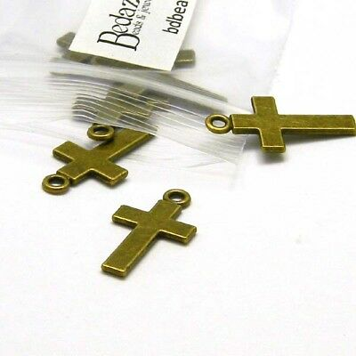 6 Miracle Charms Antique Bronze Tone Tag with Star Cutout BC708
