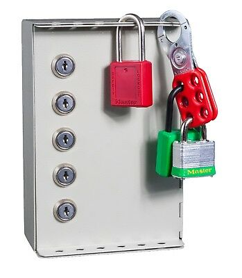 Emergency lock out key box system with 5 Security Supervisor Locks with 2 Keys