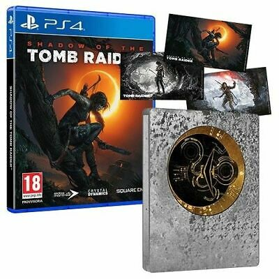 Shadow Of The Tomb Raider Edizione Limitata Steelbook Ps4 Videogioco Italiano