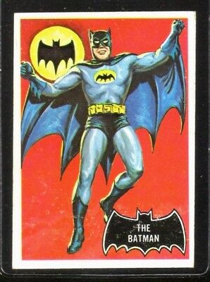 1966 Topps BATMAN #1 The Batman! Vintage Trading Card ~ EX/MT oc