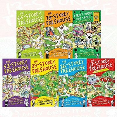 andy griffiths the treehouse books series 7 books collection set - terrys dumb