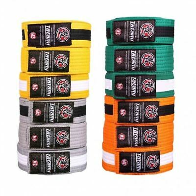 Tatami IBJJF Kids BJJ Belt Childrens Jiu Jitsu White Grey Yellow Green Orange M