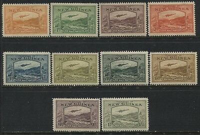 New Guinea 1939 Airmail set to 1/ mint o.g.