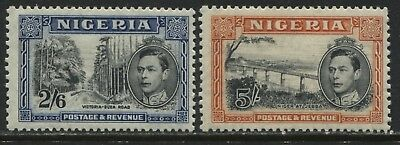 Nigeria KGVI 1938 2/6d & 5/ both perf 13 1/2 mint o.g.