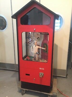 Rare Large Scoopy Baker Boy Manikin Automation Vendor, RETRO Gumball Machine
