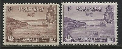 Papua KGVI 1938 8d and 1/ mint o.g.