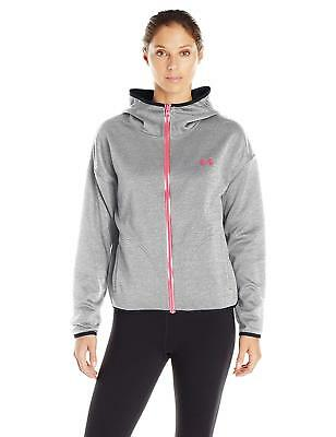 Under Armour Womens Double Threat Swacket Jacket Stealth Gray/Stealth Gray
