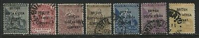 Rhodesia 1896 1/d to 1/ used overprinted British South Africa Company