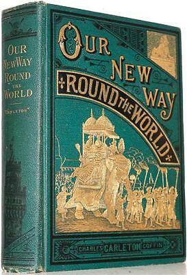 1881 Our New Way Round The World Egypt Pagan God Temples Ancient Ruins China
