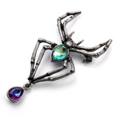 Trendy Unique Spider Rhinestone Crystal Pin Brooch Jewelry Gifts Wedding Party