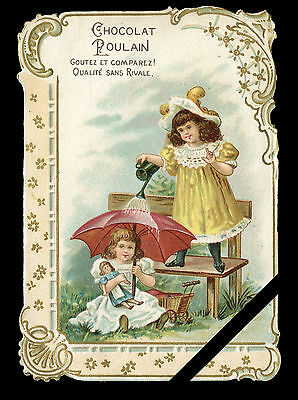 Vintage French Trade Card: Rare Original Antique Early 1900's Chocolat Poulain