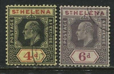St. Helena KEVII 1911 4d and 6d used
