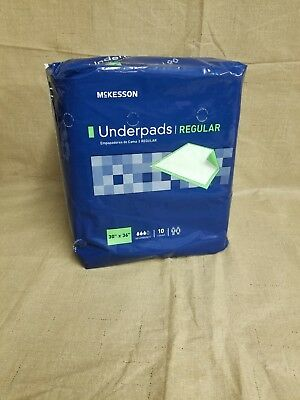McKesson Regular Underpad 30 X 36 Disposable Fluff Polymer Moderate Bag of 10