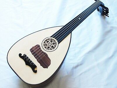 Unos Arab String Instrument Long Neck Oud W/ Softcase