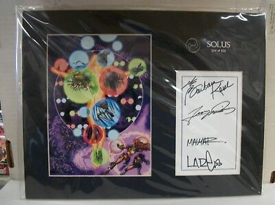 SOLUS LIMITED EDITION LASER CEL SIGNED by GEORGE PEREZ - CROSSGEN COMICS/2002