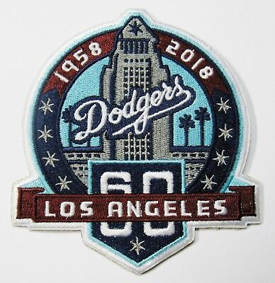 Lot Of (1) Mlb Baseball La Dodgers 1958-2018 60 Yr Embroidered Patch # 59