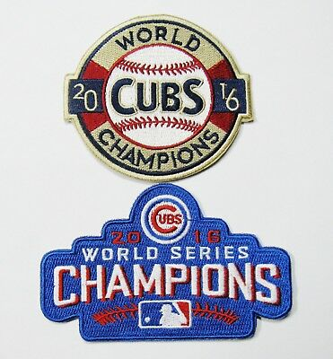 (1) Lot Of (2) Mlb Chicago Cubs Cub 2016 World Series Baseball Patch Item # 55