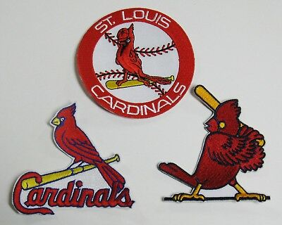 (1) Lot Of (3) Mlb Baseball St. Louis Cardinals Patches (C) Item # 68