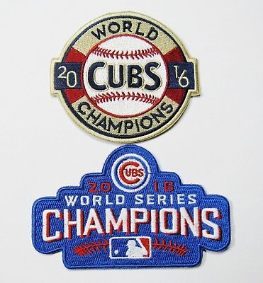 (1) Lot Of (2) Mlb Chicago Cubs Cub 2016 World Champions Baseball Patches # 55