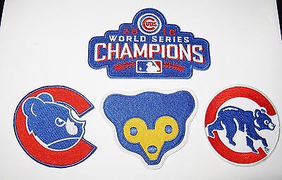 (1) Lot Of (4) Mlb Baseball Champions Chicago Cubs Embroidered Patches # 57