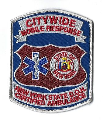 Citywide Mobile Response New York Ny Staat Doh Certified Ambulance Aufnäher -