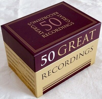 SONY 50-CD BOXED SET: 50 Great Recordings (Classical) - 2014 EU Factory SEALED