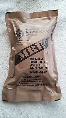 Us Mre Ration Pack Menu 4, Camping,hiking,fishing,airsoft,survival,outdoors.
