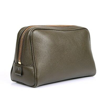 Tom Ford Men's Olive/Green Leather Personal Travel or Beauty Case New