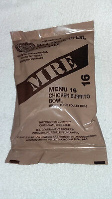 Us Mre Ration Pack Menu 16, New Menu Chicken Burrito Bowl,camping,hiking.fishing