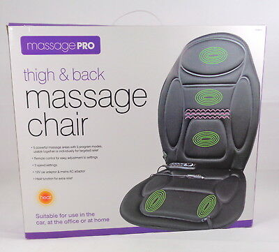 MASSAGE PRO Chair Thigh And Back For Home/Car 5 Programs Heat Function