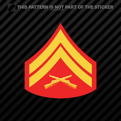 Computer USMC E4 Cpl Corporal Chevron Decal for Car Outdoors door etc Phone