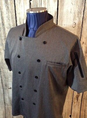 Happy Chef Womens Professional Chefs Shirt Size XL Gray Style #322 P1-21