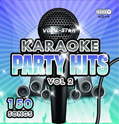 Karaoke Party Hits Vol 2 CDG CDG Disc Set - 150 Songs on 8 Discs Including The