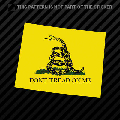 Wyoming State Shaped Gadsden Flag Sticker Self Adhesive Vinyl Wy